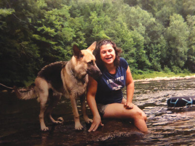 Karen Fazio with Dog